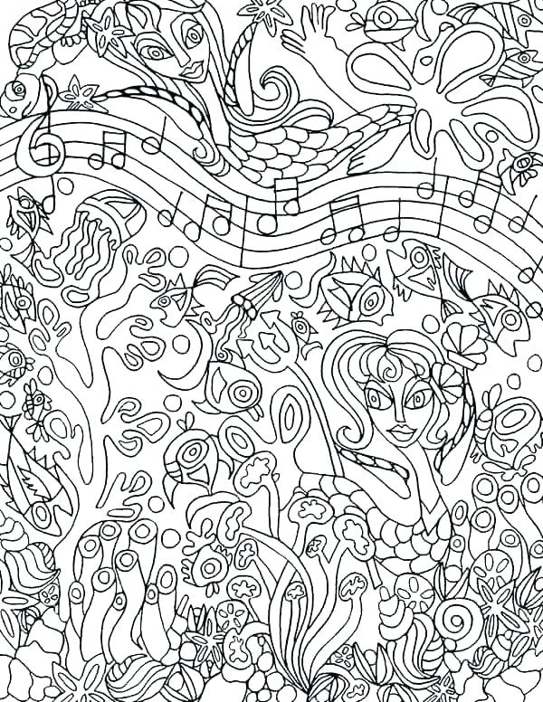 600x776 Music Coloring Pages Printable Free Music Coloring Pages Music