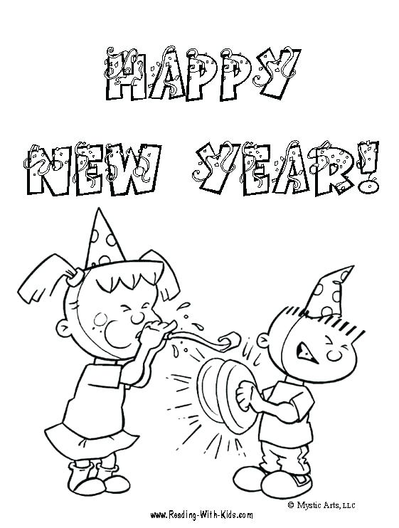 561x742 Sweet Baby New Year In Big Hat Coloring Page Download Print Sweet