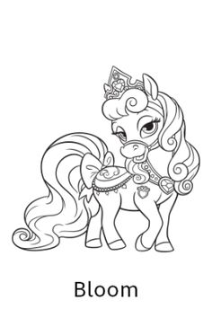 236x354 Free Coloring Page Featuring Petit From Disney's Princess Palace