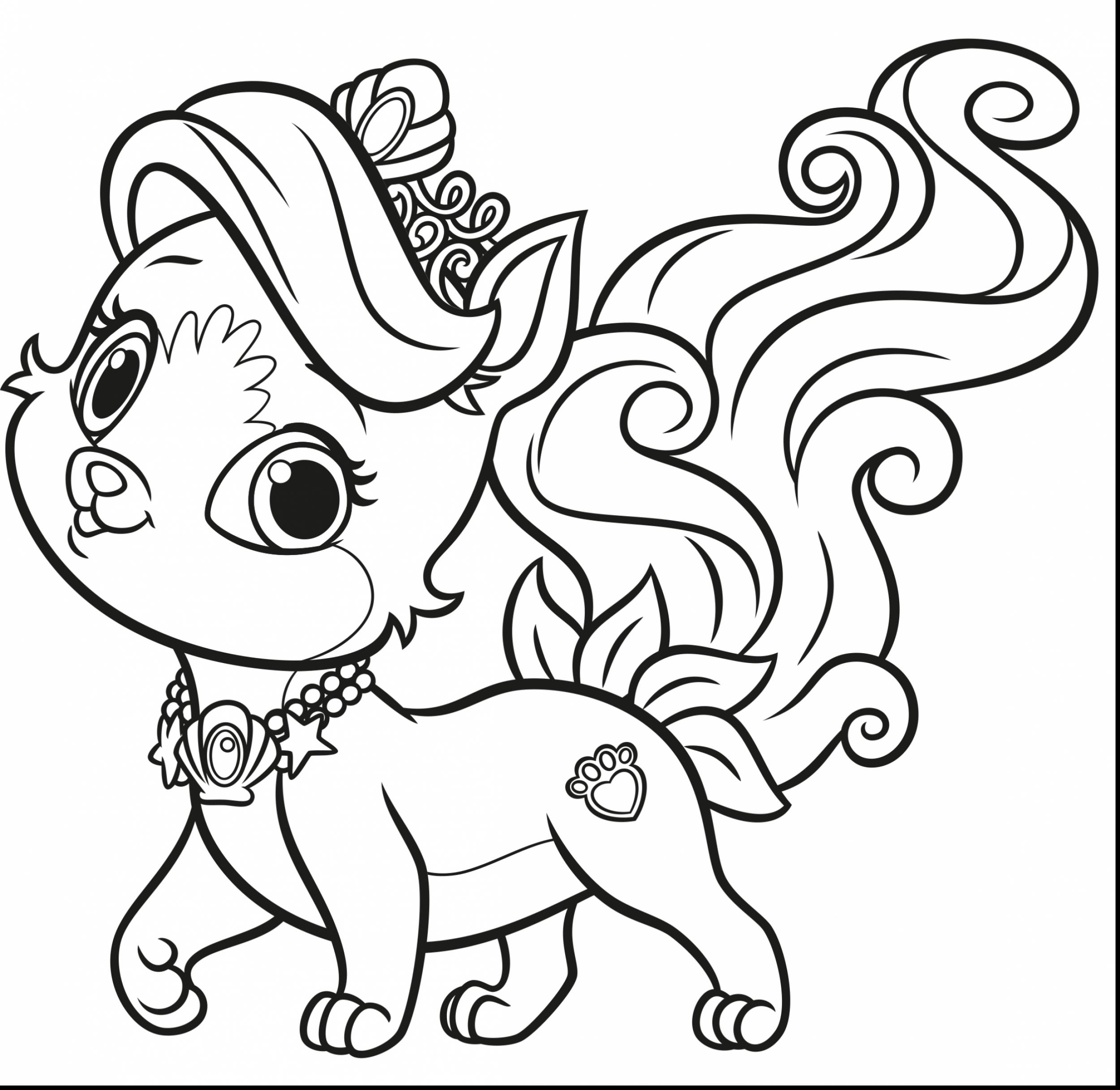 2501x2433 Palace Pets Coloring Pages Rawesome Co For Alluring Princess