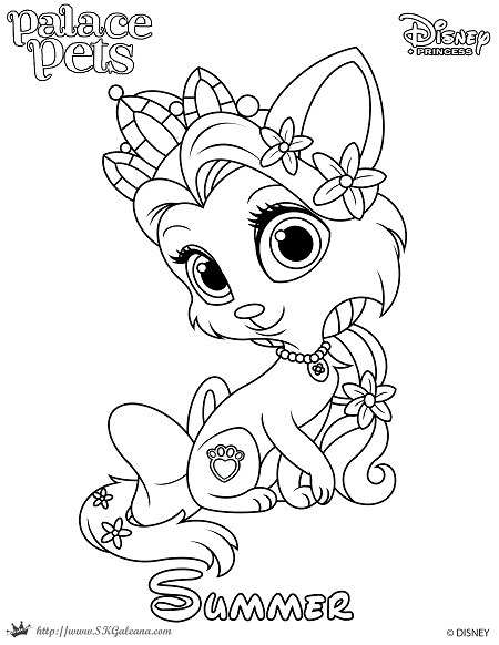 450x582 Princess Palace Pet Coloring Page Of Summer Skgaleana