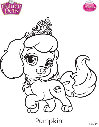400x511 Princess Palace Pets Pumpkin Coloring Page