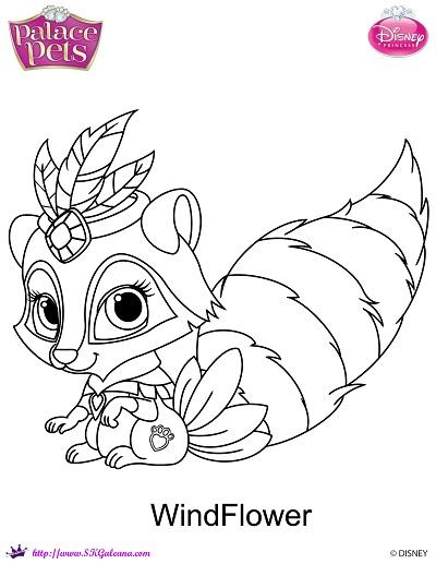 400x517 Disney Princess Palace Pets Coloring Pages