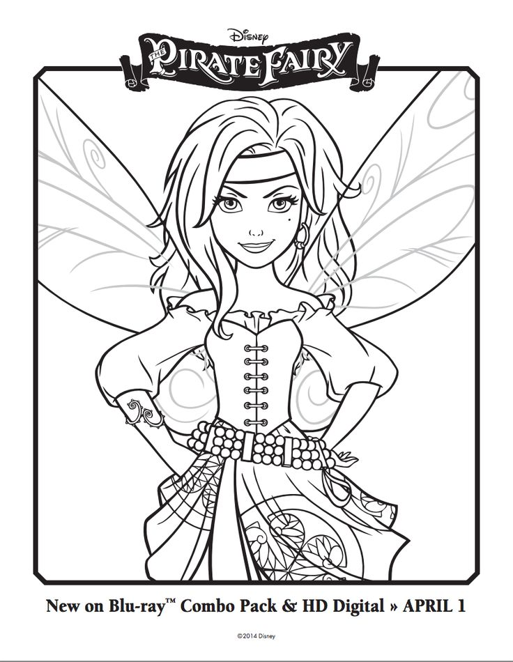 Disney Pirate Fairy Coloring Pages At Getdrawings Com Free