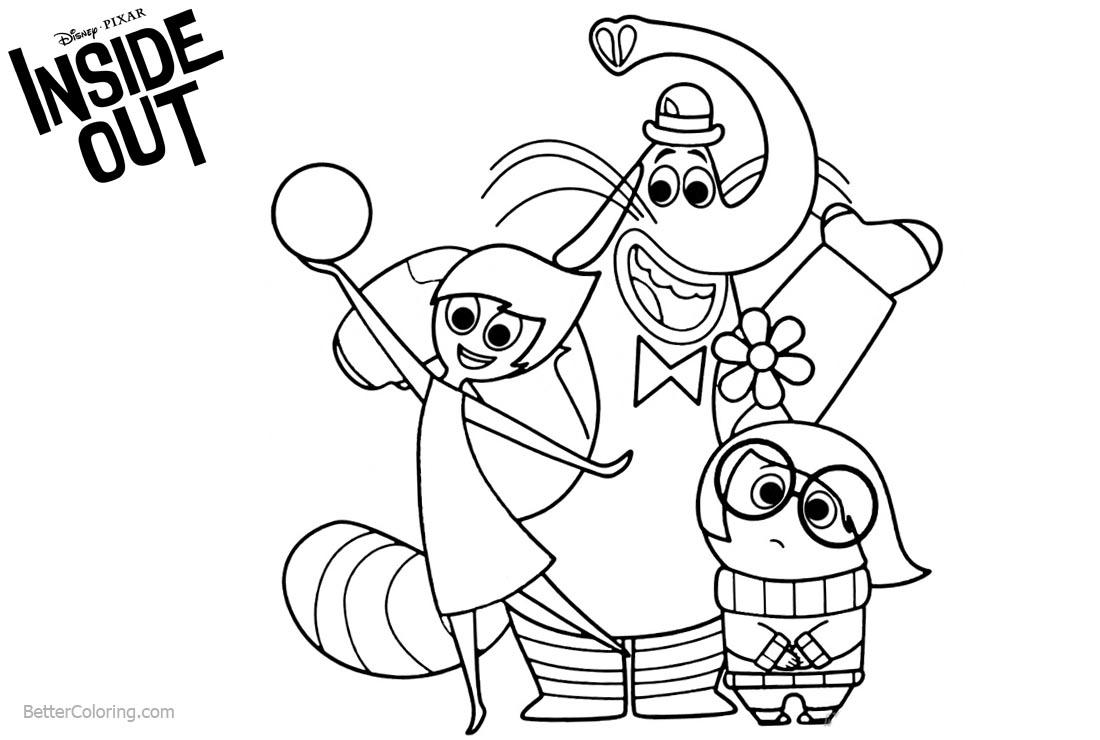 1100x740 Disney Pixar Inside Out Coloring Pages