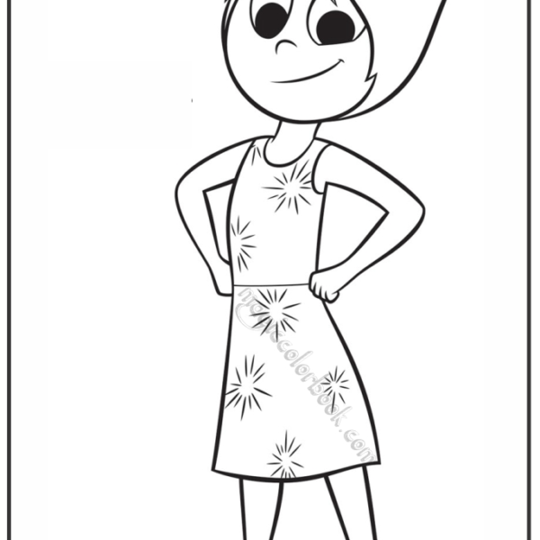 600x600 Inside Out Coloring Pages Free Printable Joy Throughout Printable