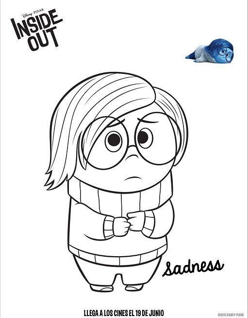 511x654 Dibujos De Intensamente Tristeza Para Colorear Intensamente