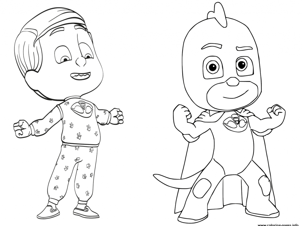 1024x768 Nice Design Pj Masks Coloring Pages Greg Is Gekko From Pj Masks