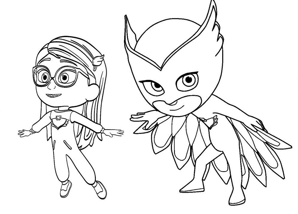 995x715 Owlette Pj Masks Coloring Page Disney Coloring Activity