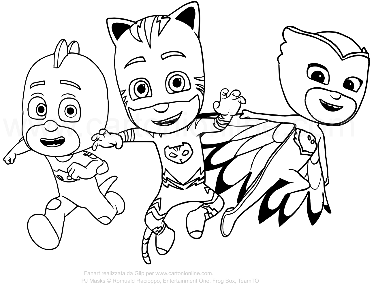 1304x992 Pj Mask Coloring Pages Pictures To Color And Print