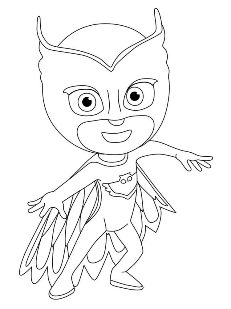 750x1000 Pj Masks Coloring Pages Movies And Tv Show Coloring Pages