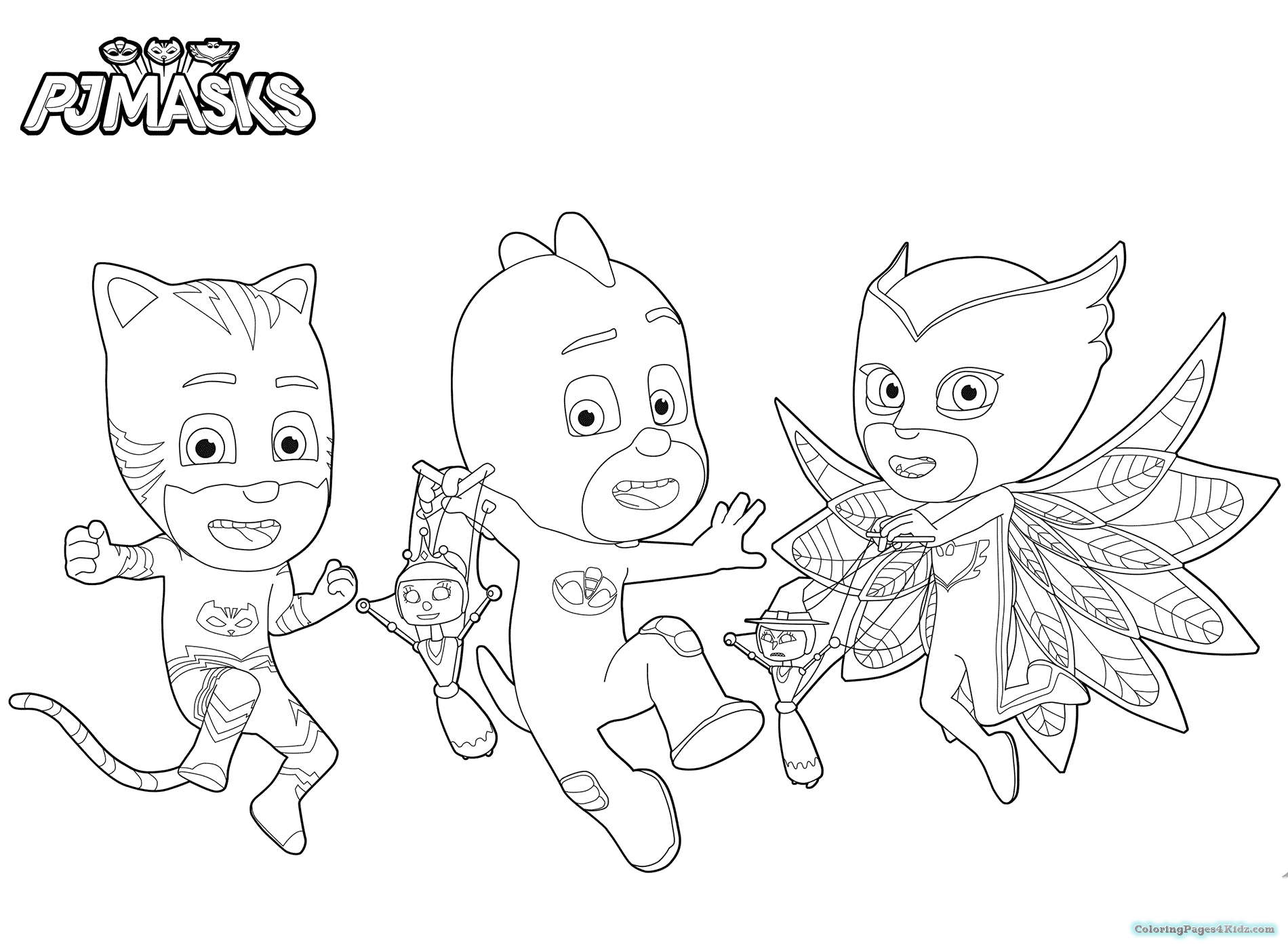 1900x1400 Pj Masks Coloring Pages Coloring Pages For Kids