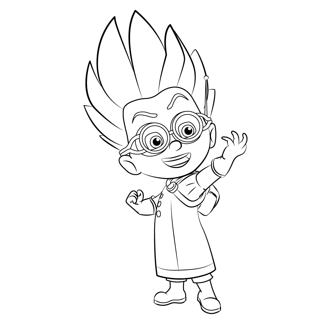 1024x1024 Top Pj Masks Coloring Pages Caras