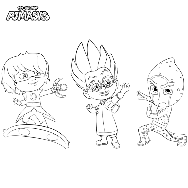 640x640 Top Pj Masks Coloring Pages