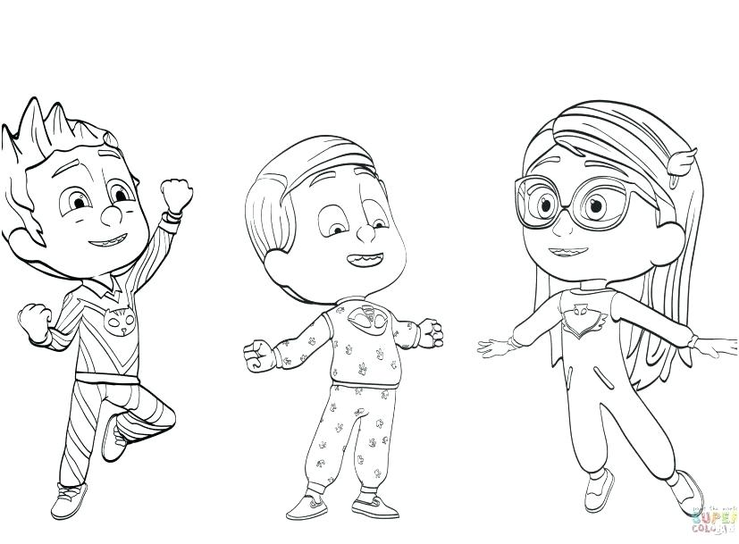 827x609 Unique Pj Mask Coloring Pages Or Mask Coloring Pages Masks