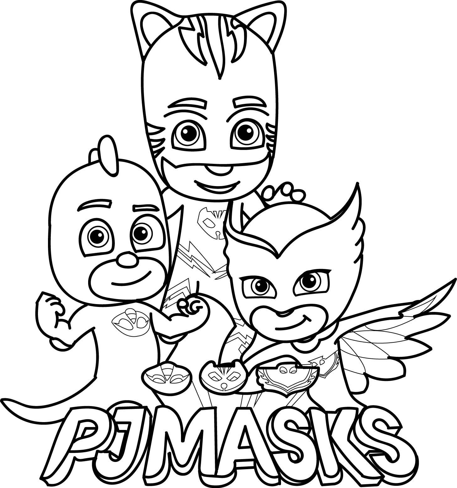 1457x1555 Unique Pj Mask Coloring Pages Advance