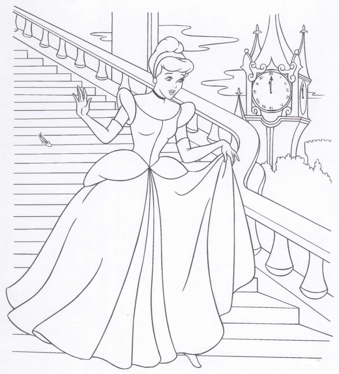 1088x1200 Free Printable Disney Princess Coloring Pages For Kids