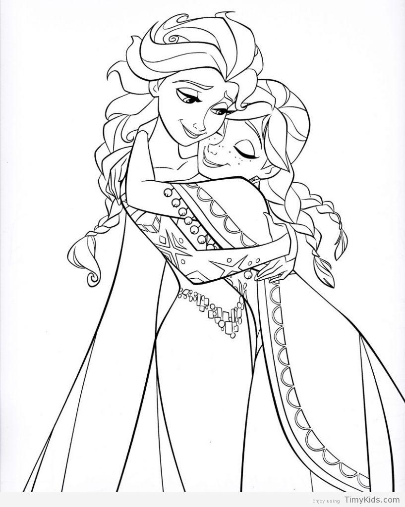817x1024 Disney Princess Coloring Pages Frozen Elsa Coloring Pages