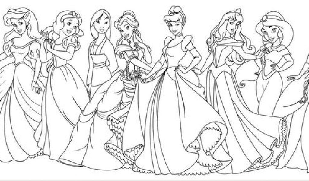 1024x600 All Disney Princess Coloring Pages Pretty Princess Coloring