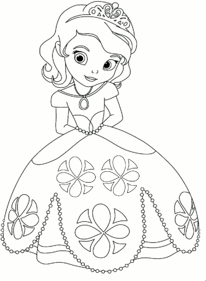 698x950 Competitive Princess Coloring Pictures Princess Coloring Page
