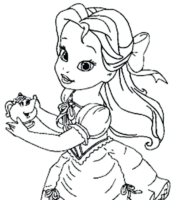 600x698 Disney Princess Belle Para Colorear Exceptional Princess