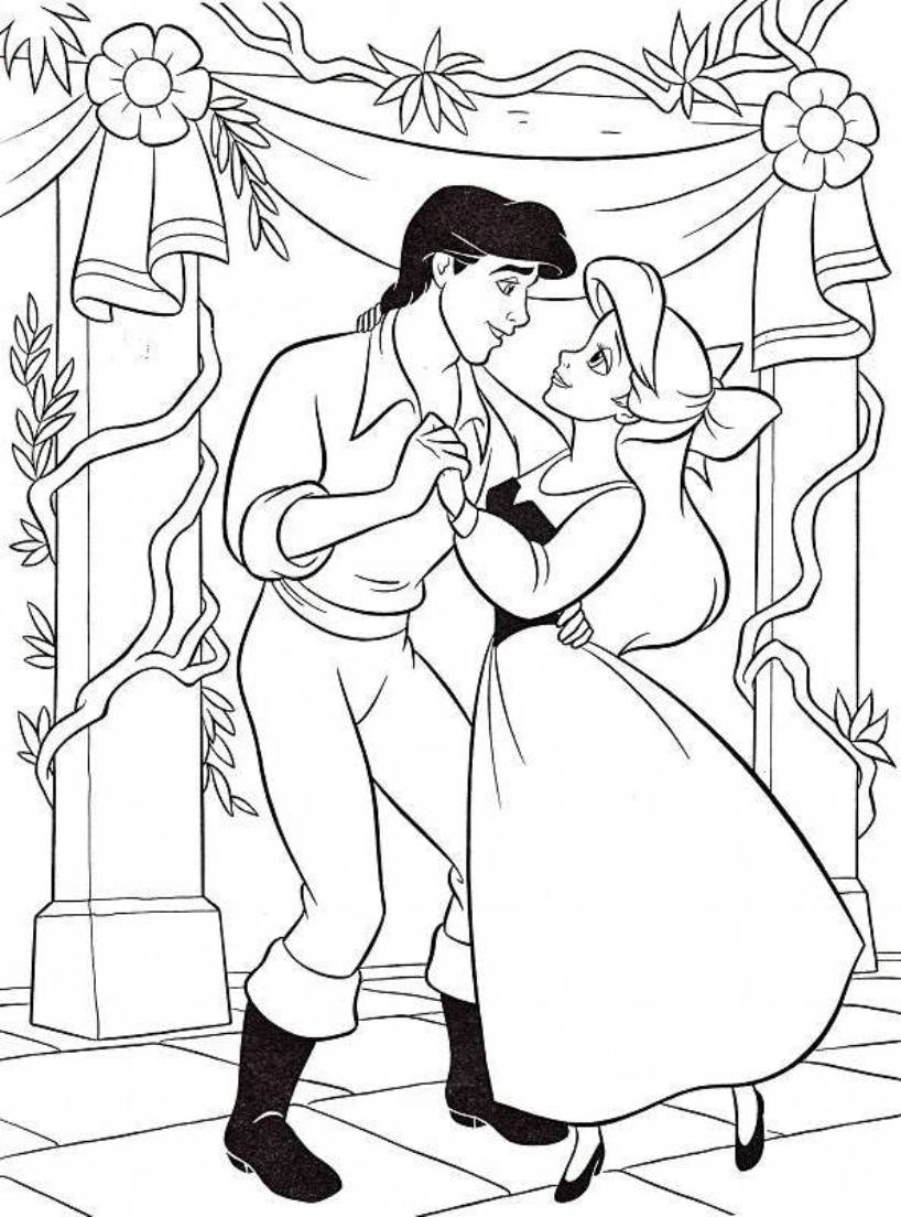 Disney Princess Ariel And Eric Coloring Pages at GetDrawings ...