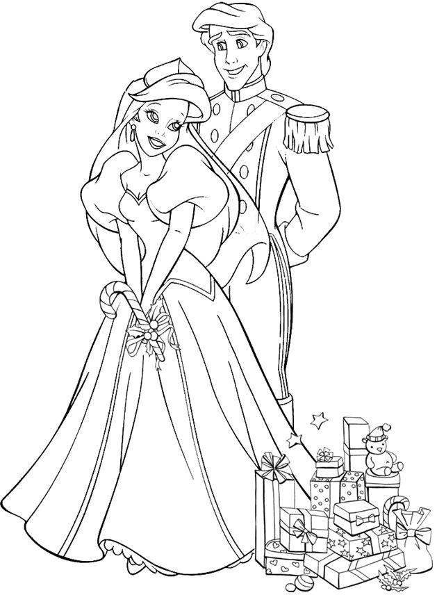 Disney Princess Ariel And Eric Coloring Pages At Getdrawings Com