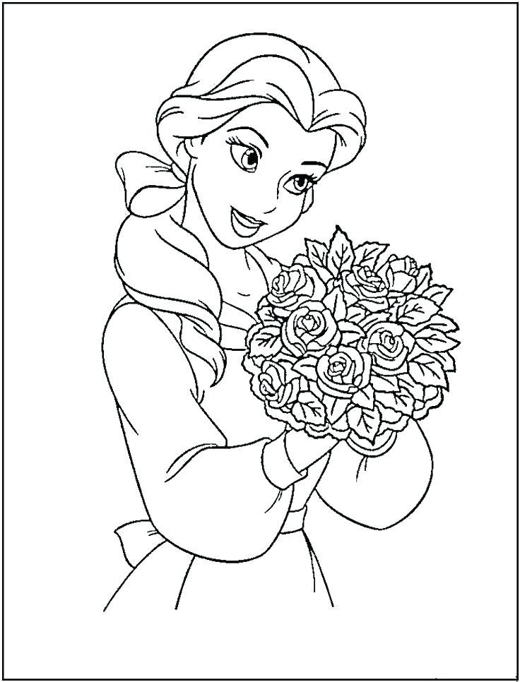 Disney Princess Belle Coloring Pages at GetDrawings.com ...
