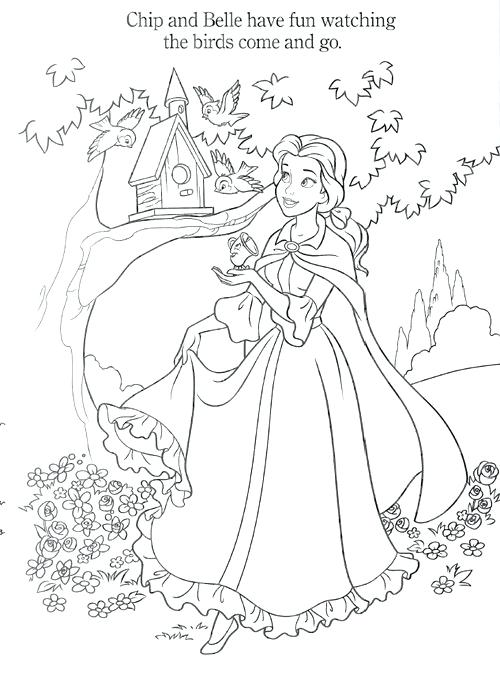 Disney Princess Belle Coloring Pages At Getdrawings Free Download