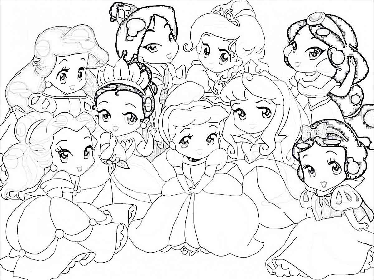 Disney Princess Characters Coloring Pages At Getdrawings Free Download