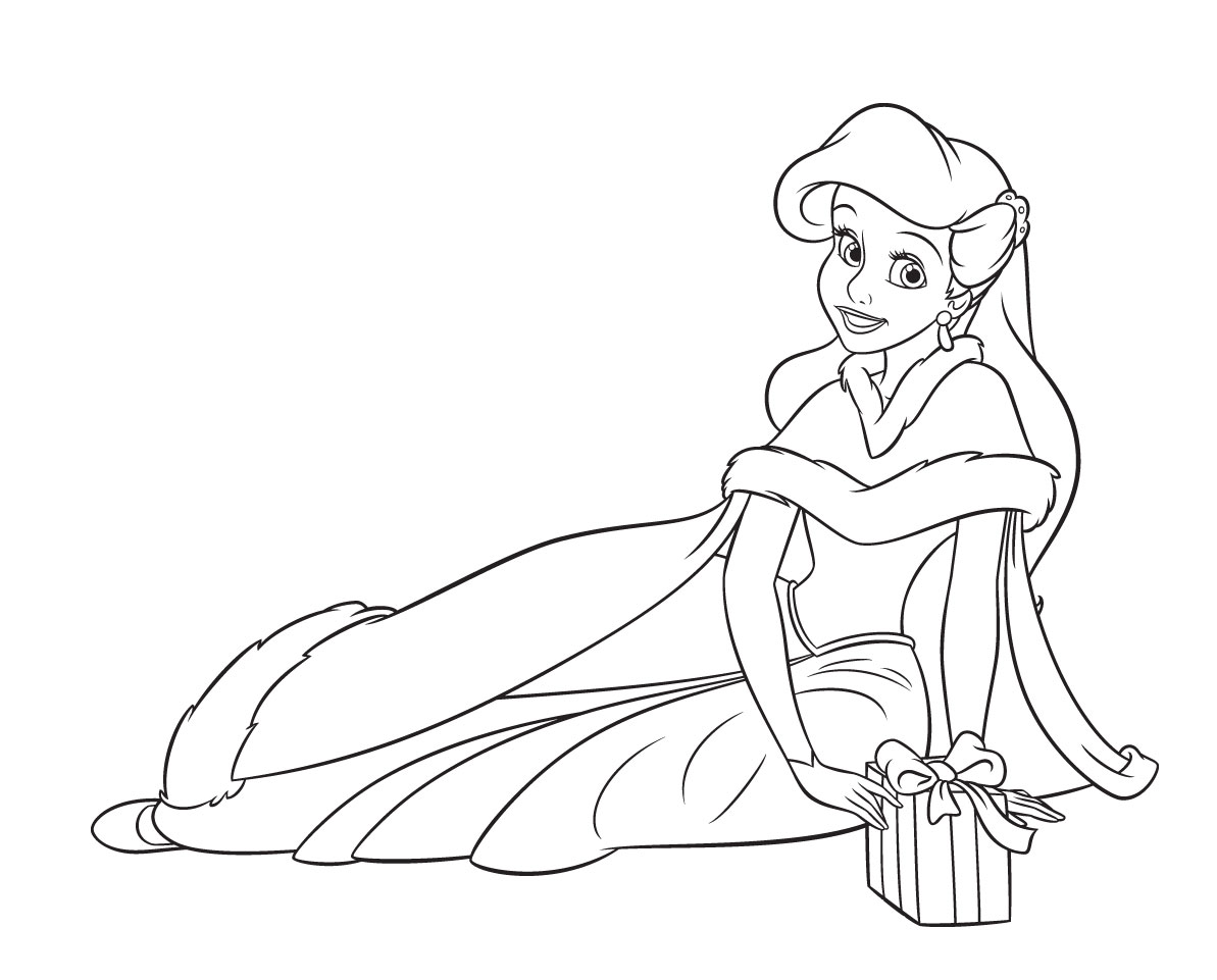 1193x961 Disney Princess Christmas Coloring Pages