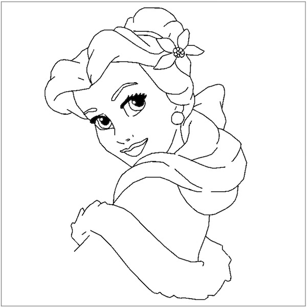 600x602 Disney Princess Christmas Coloring Pages Full Desktop Backgrounds