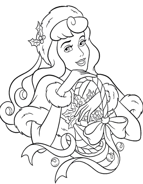 550x707 Disney Princess Christmas Coloring Pages Disney Princess Christmas