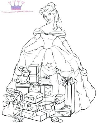 318x400 Christmas Princess Coloring Pages Free Printable Coloring Pages