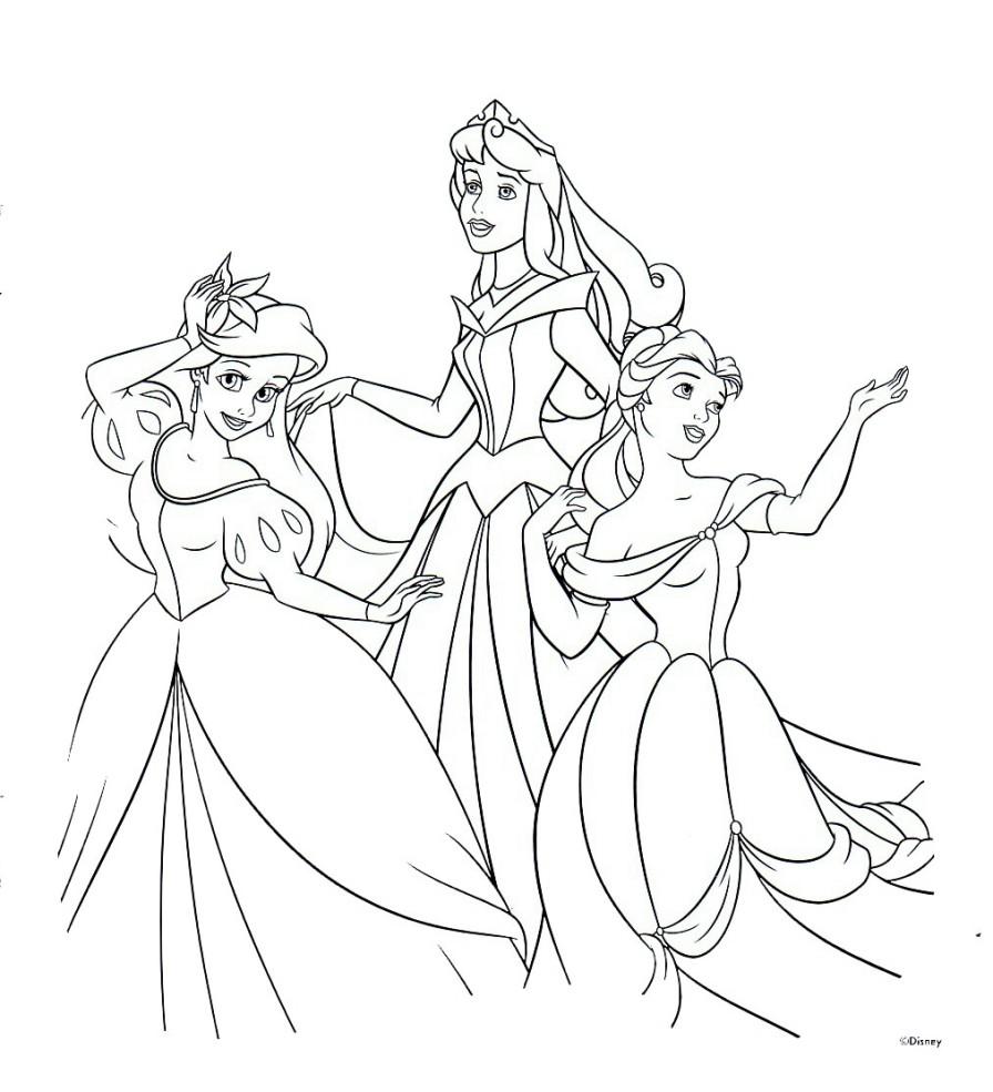 896x985 Disney Princess Coloring Pages