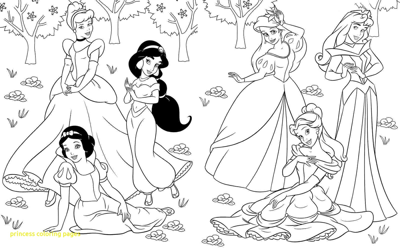 1600x993 Disney Princess Coloring Pages With Free