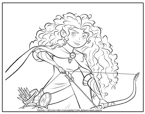 Disney Princess Coloring Pages Brave At Getdrawings Com