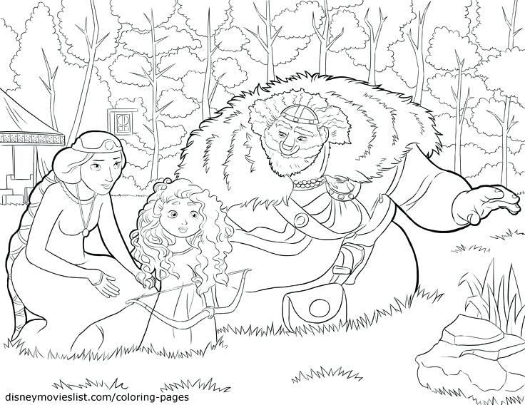 736x568 Disney Brave Coloring Pages Brave King Queen And Baby Coloring