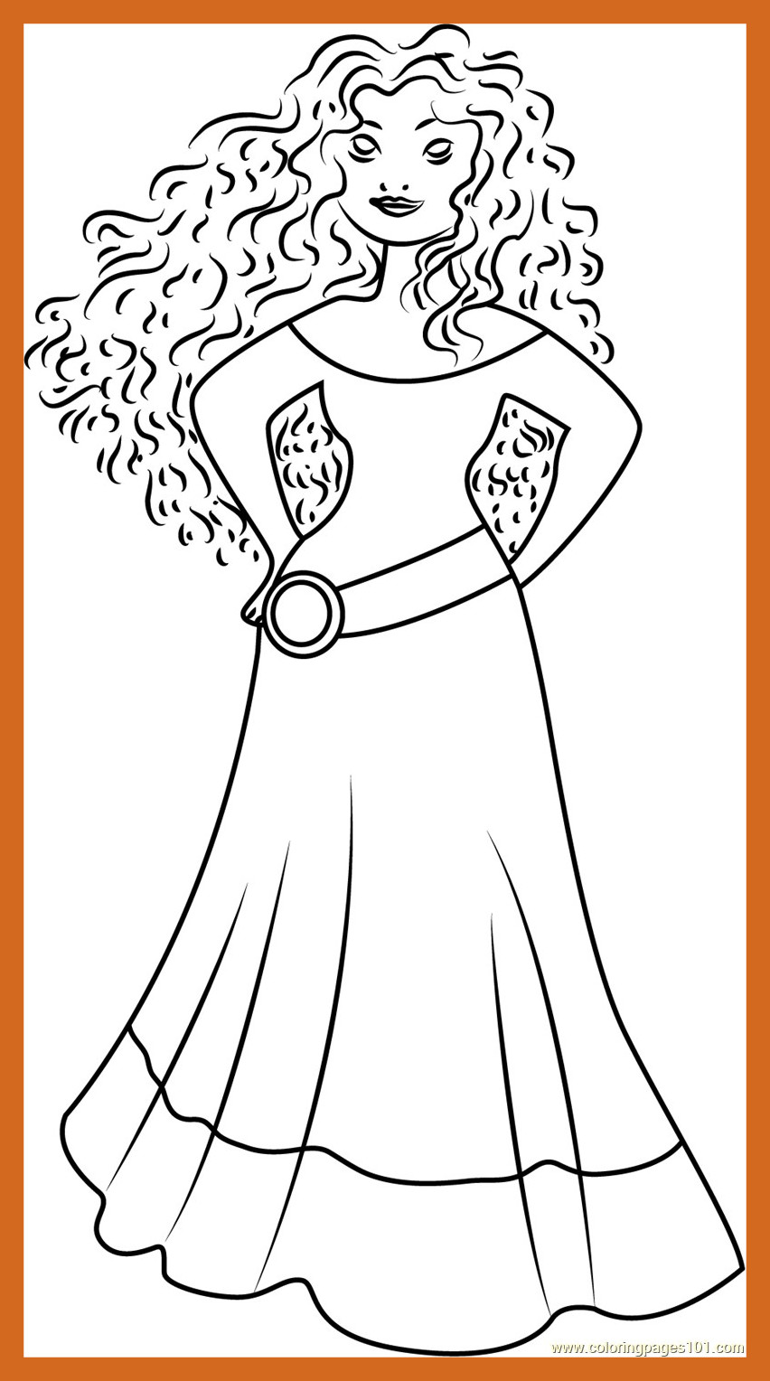 852x1528 Best New Disney Princess Coloring Pages Brave Gallery Printable