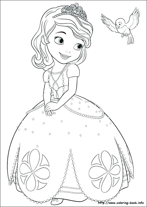 567x794 Sofia The First Disney Princess Coloring Pages Lovely Brave