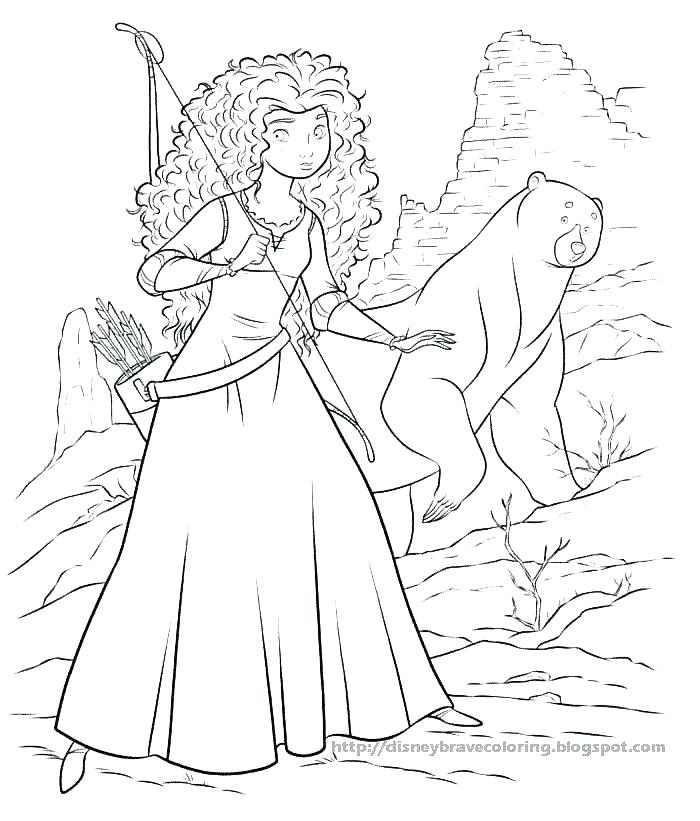 700x821 Brave Coloring Pages
