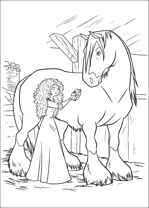 567x794 Brave Coloring Pages Princess For Princess Brave Coloring Pages