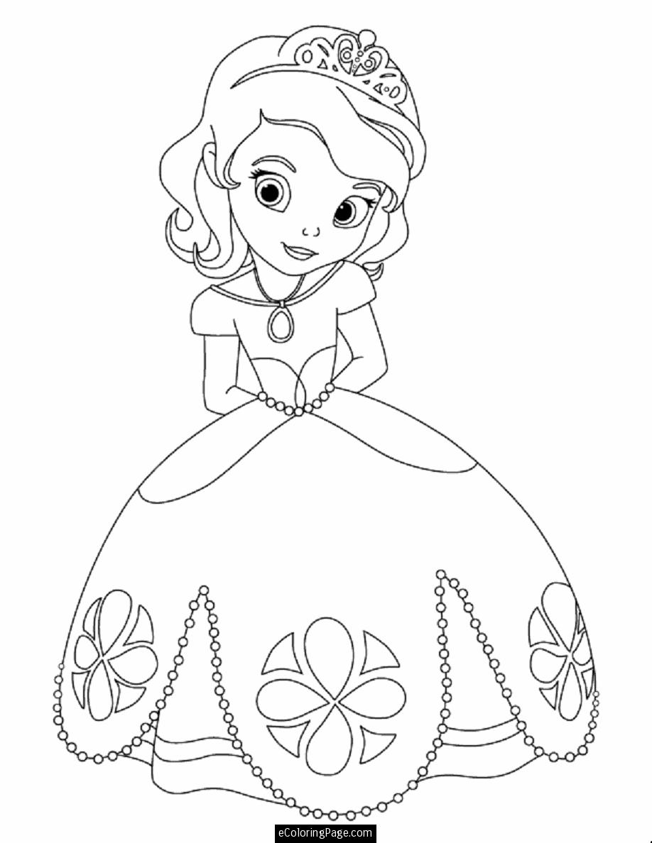 Disney Princess Coloring Pages For Kids At Getdrawings Free Download