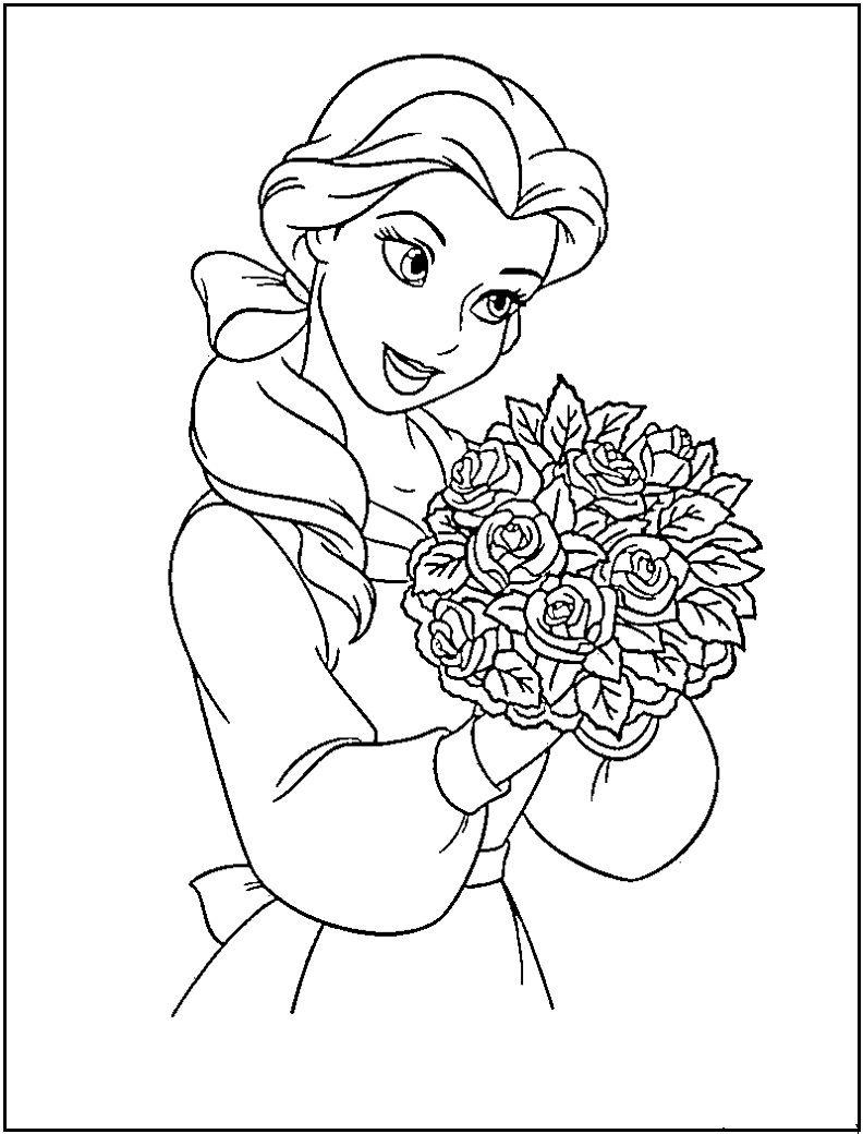792x1040 Disney Princess Coloring Pages Free