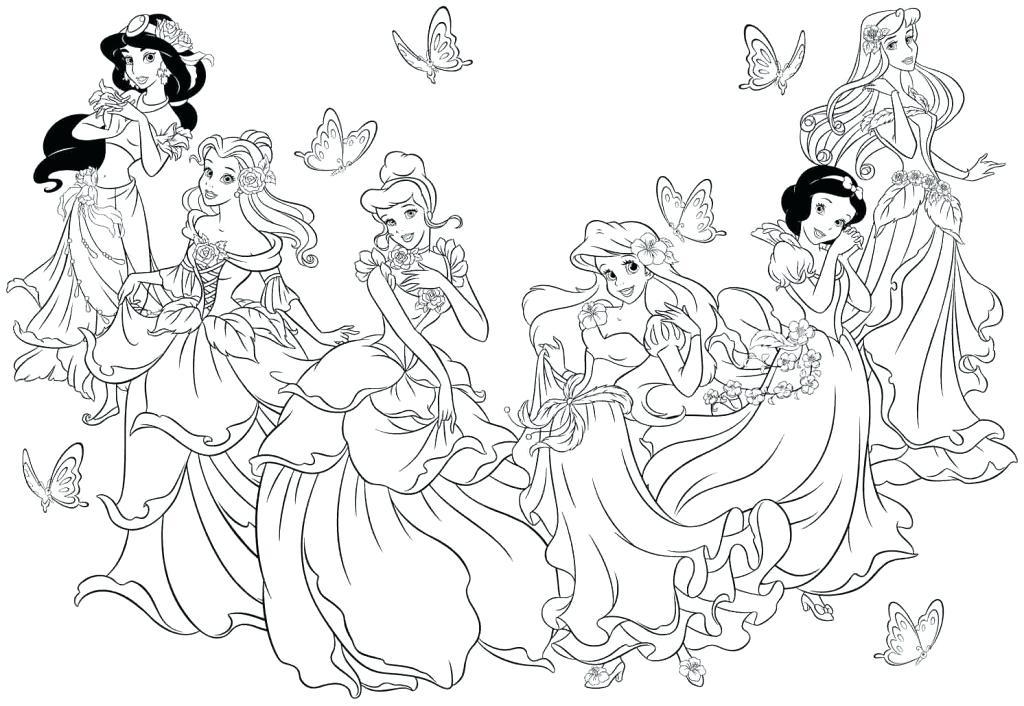 1024x706 Disney Princess Coloring Pages Pdf Princess Colouring Book