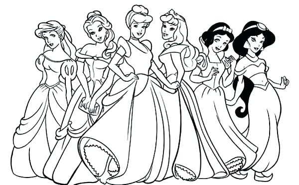600x371 Princess Diaries Coloring Pages Download And Print For Free Print