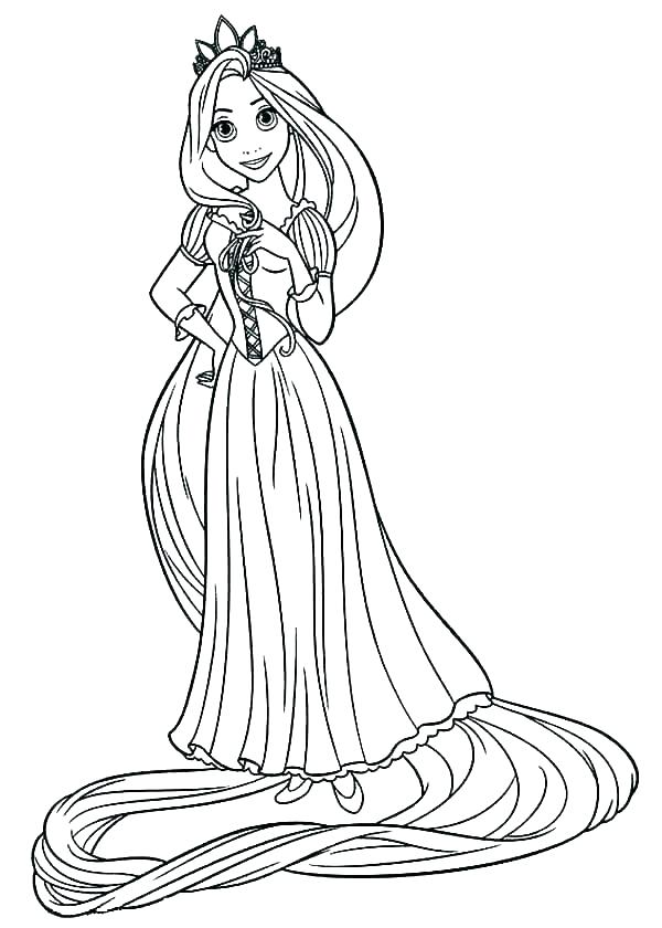 600x840 All Disney Princess Coloring Pages