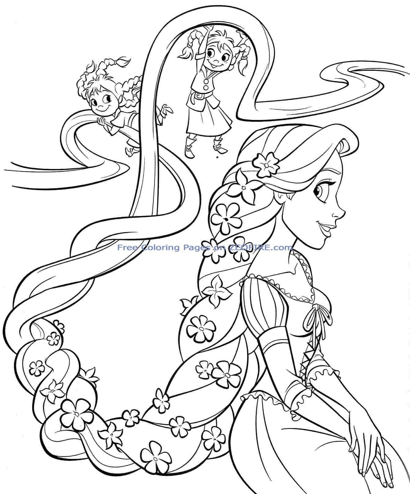 1342x1618 Best Rapunzel Disney Princess Coloring Pages Free Printable