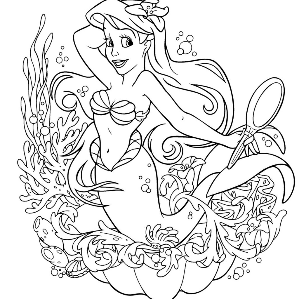 1024x1024 All Disney Princesses Coloring Pages