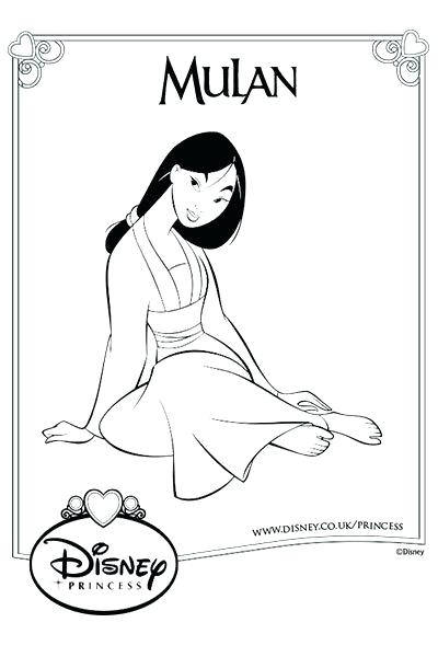 Disney Princess Coloring Pages Mulan At Getdrawings Free Download